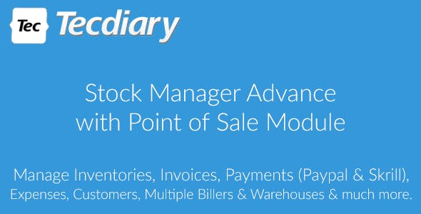 Stock Manager Advance with Point of Sale Module v3.4.17 – nulled