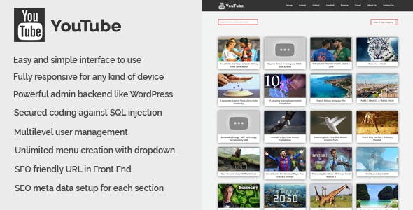 YouTube v1.0.0 – YouTube Video Collection CMS