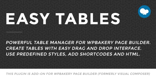 Easy Tables v2.0.1 – Table Manager for WPBakery Page Builder