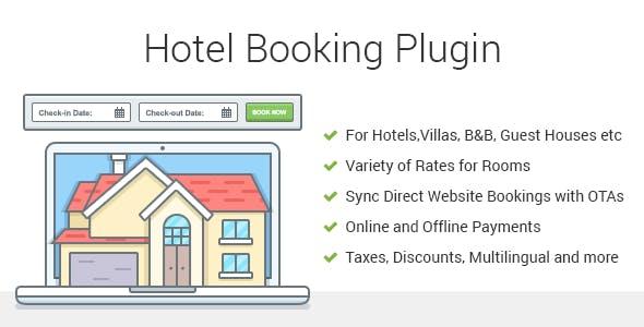 Hotel Booking v3.9.5 - Property Rental WordPress Plugin