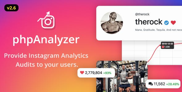 phpAnalyzer v2.6.2 – Instagram Analytics / Audit / Statistics Tool