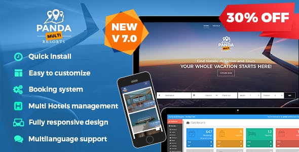 Panda Multi Resorts v7.0.6 – Booking CMS for Multi Hotels