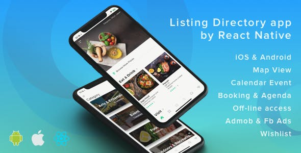 ListApp v1.7.1 – Listing Directory mobile app by React Native