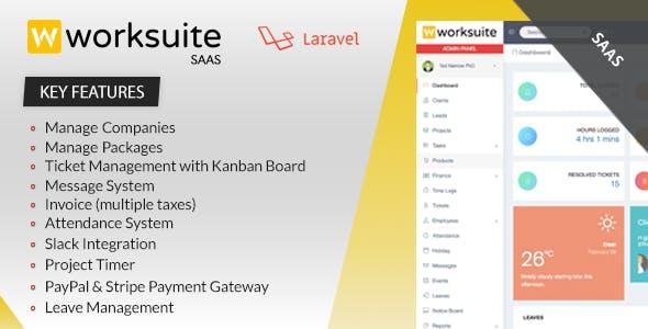 Worksuite Saas v2.5.3 – Project Management System