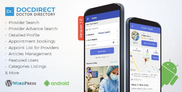 DocDirect App v1.0.1 – Doctor Directory Android Native App