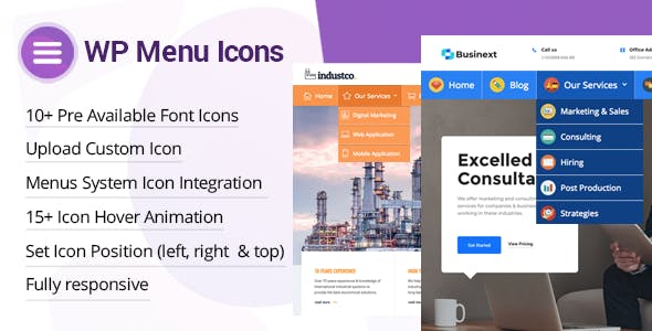 WP Menu Icons v1.1.6 - Effectively Add & Customize Icons For WordPress Menus