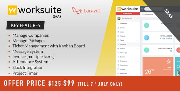 Worksuite Saas v2.5.8 – Project Management System – nulled
