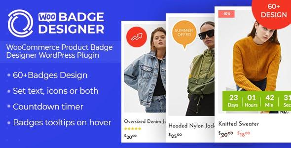 Woo Badge Designer v1.0.5 – WooCommerce Product Badge Designer WordPress Plugin