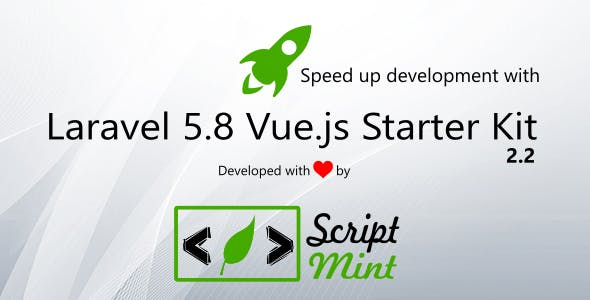 Laravel 5.8 Vue.js SPA Bootstrap Admin Starter Kit v2.2