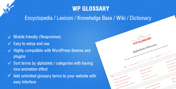 WP Glossary v2.3 – Encyclopedia, Lexicon, Knowledge Base