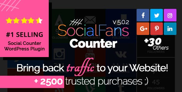 SocialFans v5.0.2 - WP Responsive Social Counter Plugin