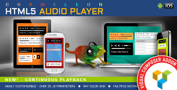 Chameleon Audio Player v1.3.2 - WPBakery Page Builder Addon