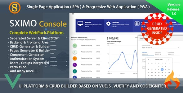 Sximo Console - Web and Mobile Development Tools