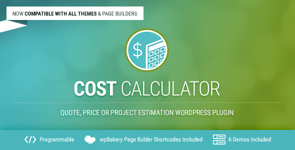 Cost Calculator v2.3.1 - WordPress Plugin