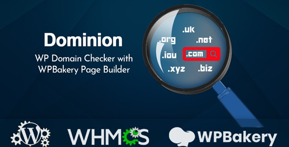 Dominion v1.2 – WP Domain Checker with WPBakery Page Builder