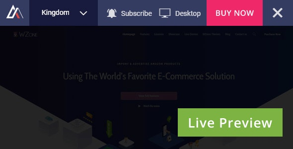 Envato Live Preview Switch Bar for WordPress v1.0.0