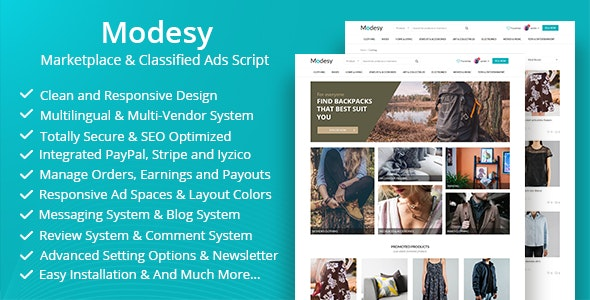Modesy v1.4.1 – Marketplace & Classified Ads Script – nulled