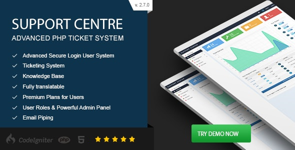 Support Centre v2.7.0 – Advanced PHP Ticket System