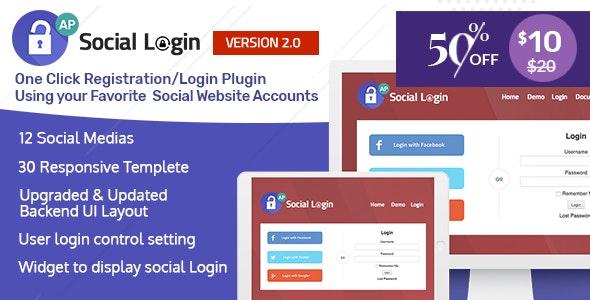 Social Login WordPress Plugin v2.0.8 - AccessPress Social Login