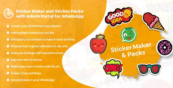 WhatsApp Sticker Maker with Admin Portal v1.1 - WAStickerApps Android