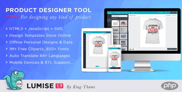 Lumise Product Designer Tool v1.7.3 - PHP Version