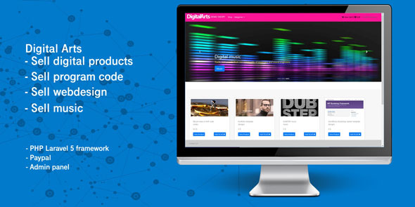 Laravel Digital Products – Multi-Vendor Market