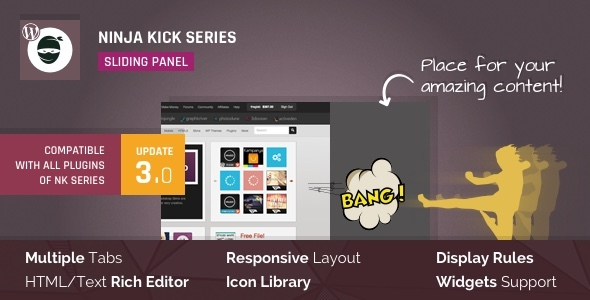 Ninja Kick: Sliding Panel for WordPress v3.0.16