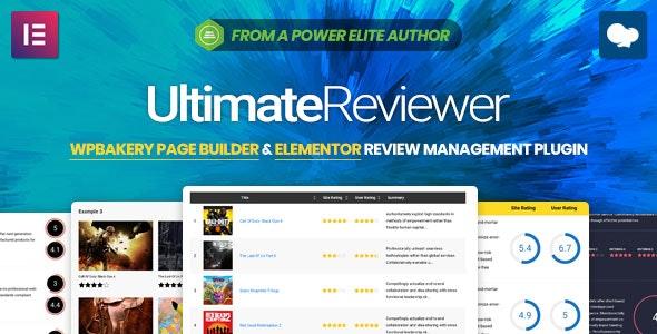 Ultimate Reviewer v2.0.1 – Elementor & WPBakery Page Builder Addon