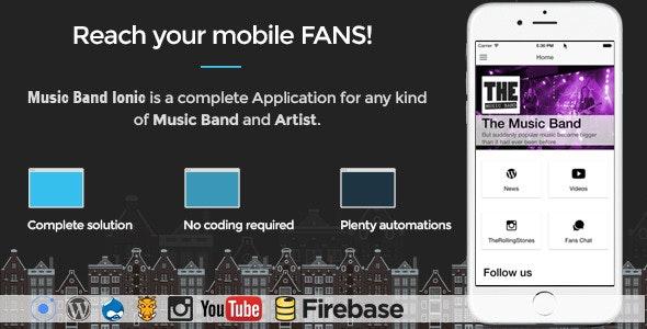 Music Band v17 – Ionic 3 – Full Application