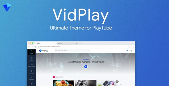 VidPlay v1.4 - The Ultimate PlayTube Theme