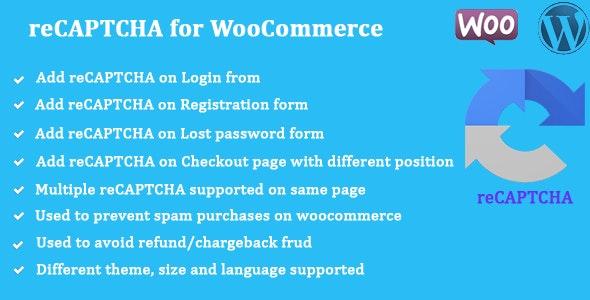 reCAPTCHA for WooCommerce v1.0.8