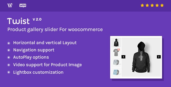 Twist v2.1 – Product Gallery Slider for Woocommerce
