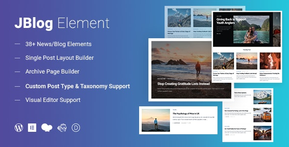 JBlog Elements v1.1.0 - Magazine & Blog Add Ons for Elementor & WPBakery Page Builder