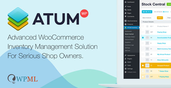 ATUM v1.6.5 - Inventory Management for WooCommerce + Premium Add-Ons