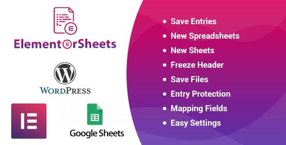 ElementorSheets v3.1 - Elementor Pro Form Google Spreadsheet Addon