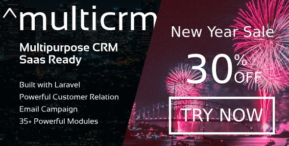 Multicrm v2.1 – Multipurpose Powerful Laravel CRM. Saas Ready