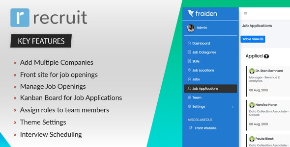 Recruit v2.2.0 - Recruitment Manager - nulled