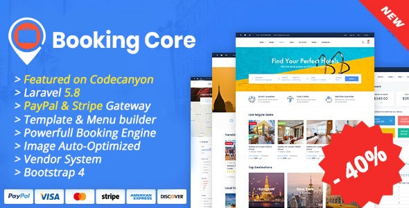 Booking Core v1.5.1 - Ultimate Booking System