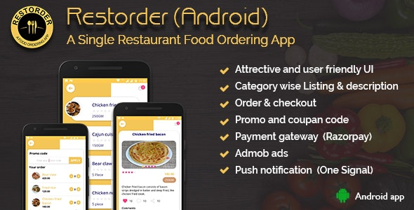 Restorder (Android) - A single restaurant food ordering app