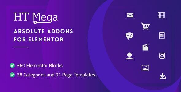 HT Mega Pro v1.2.8 – Absolute Addons for Elementor Page Builder