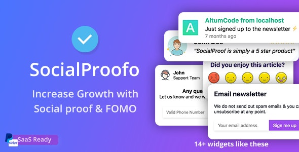 SocialProofo v1.7.1 – 14+ Social Proof & FOMO Notifications for Growth
