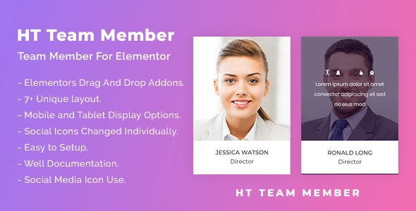 HT Team Member For Elementor v1.0.1