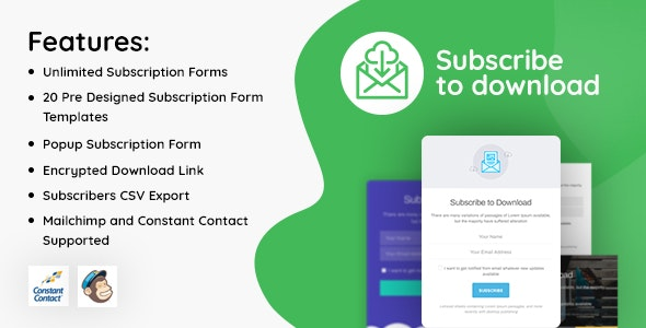 Subscribe to Download v1.2.8 - An advanced subscription plugin for WordPress