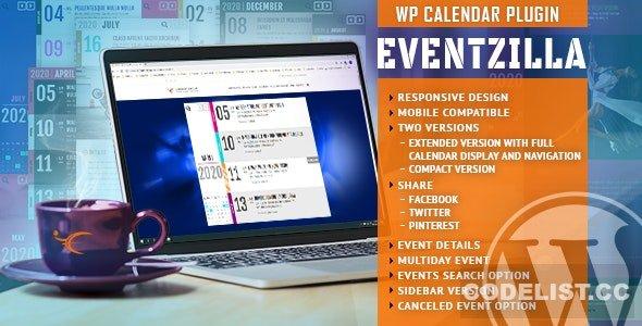 EventZilla v1.3.2 - Event Calendar WordPress Plugin