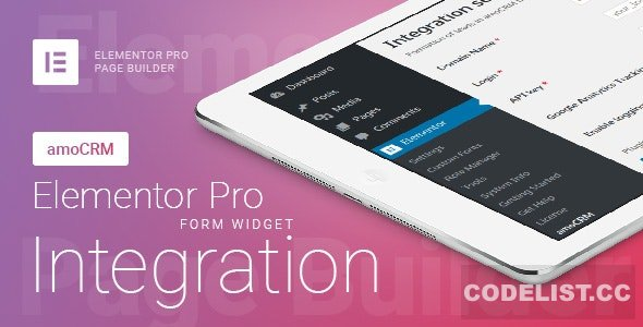 Elementor Pro Form Widget - amoCRM - Integration v2.4.6