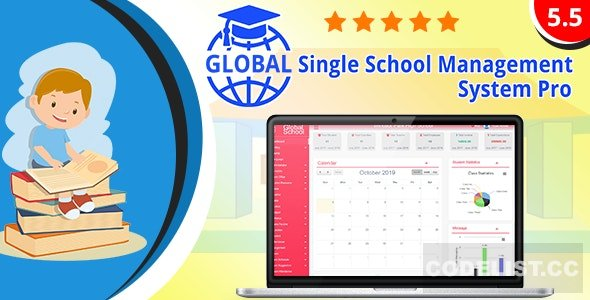 Global v5.5 - Single School Management System Pro - nulled