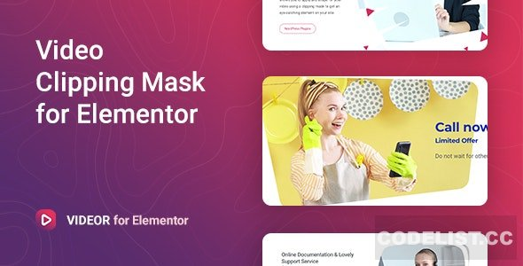 Videor v1.0.2 - Video Clipping Mask for Elementor