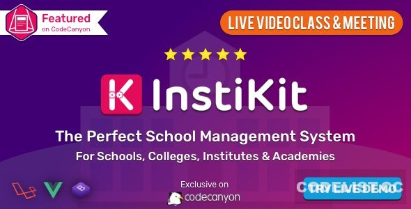 InstiKit School v2.8.0 - School Management System & School ERP - nulled
