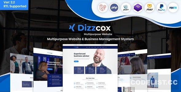 Dizzcox v2.2 - Multipurpose Website & Business Management System CMS