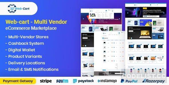 Web-cart v1.0 - Multi Vendor eCommerce Marketplace